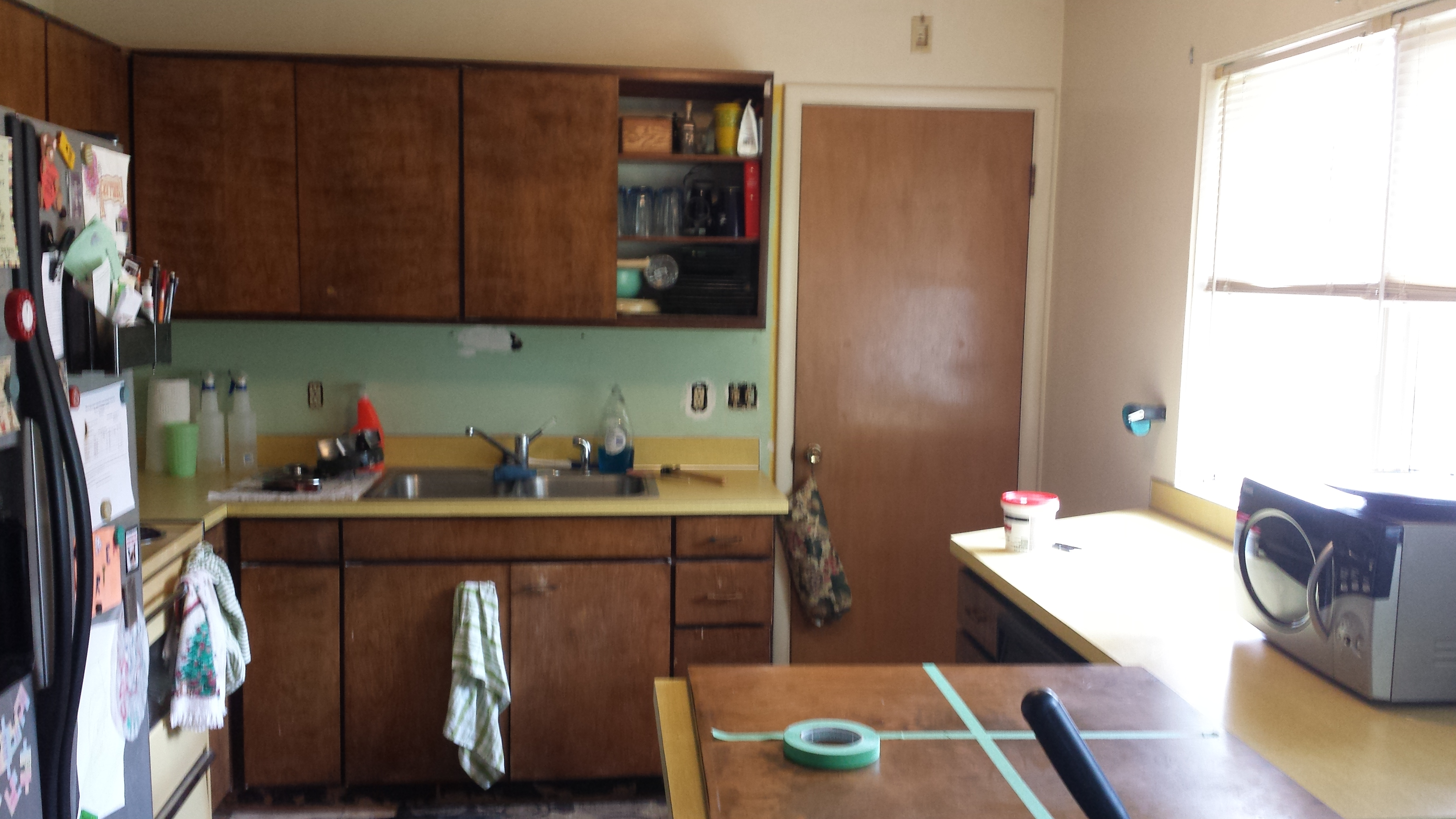 Repaint Kitchen Walls With Anti Fungicidal Paint In Magnolia